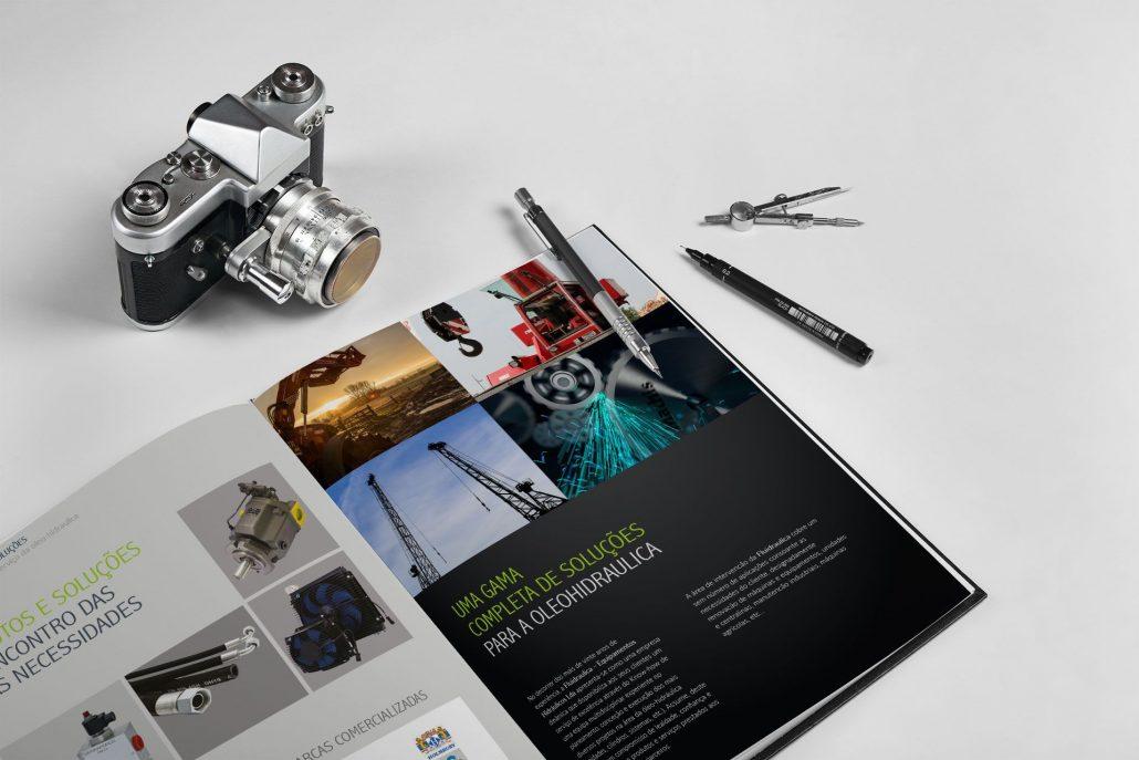 Portfolio Fluidraulica Web design e design gráfico em Braga.