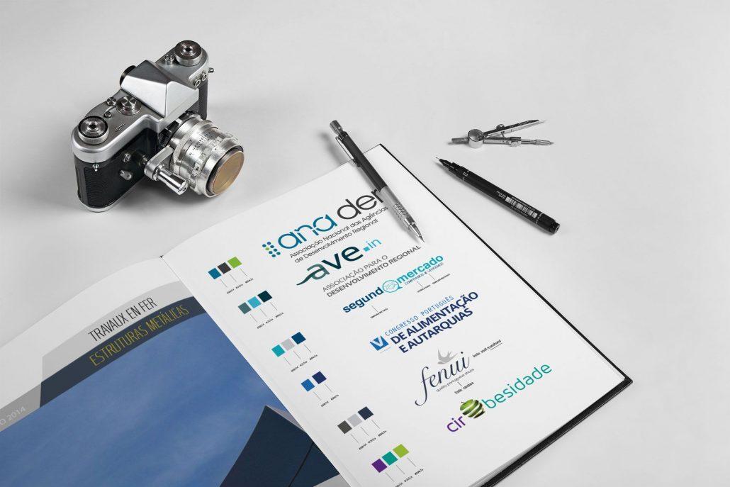 Portfolio Logos Web design e design gráfico em Braga.